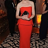 Elizabeth Banks wore a stunning red dress to the event.