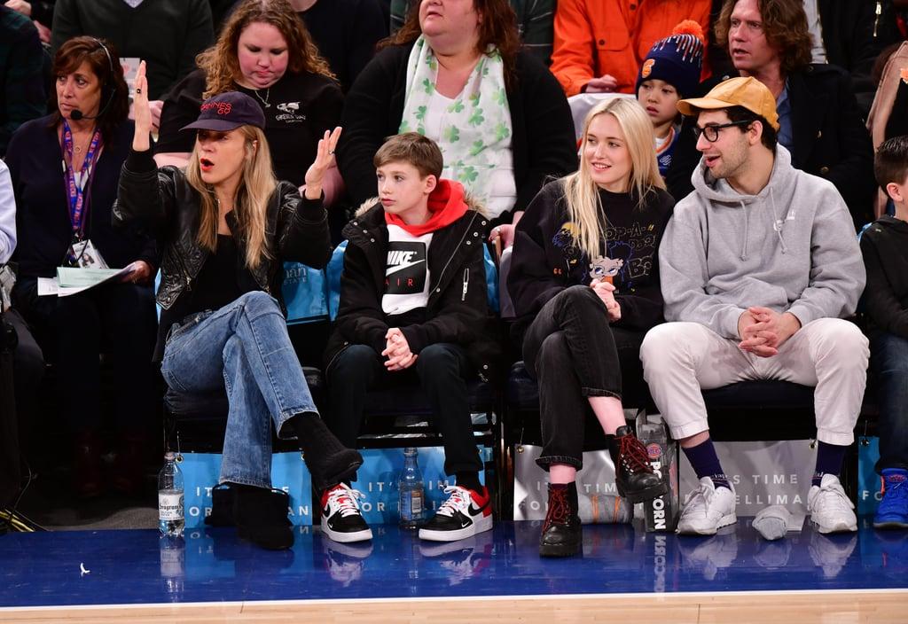 Jack Antonoff and Carlotta Kohl at Knicks Game March 2018