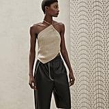 Nanushka Yolie Vegan Leather Bermuda Shorts