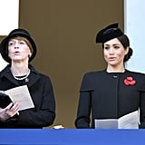 Royal Family at Remembrance Day Sunday Service 2018