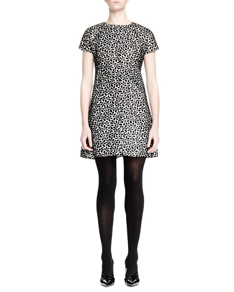 Balenciaga Short-Sleeve Floral-Print Shift Dress ($2,375)