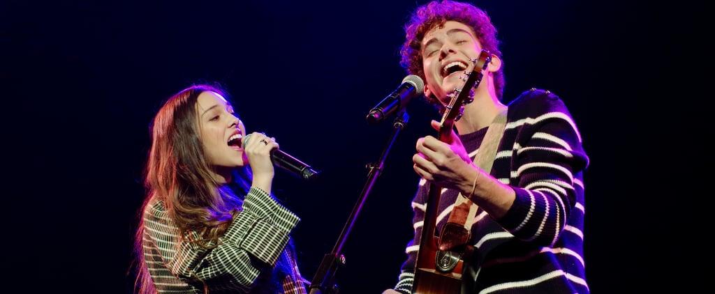 Joshua Bassett and Olivia Rodrigo at Junior Theater Festival