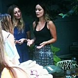We caught up with Olivia Wilde at her bag launch for Shopbop and Alternative Apparel.
