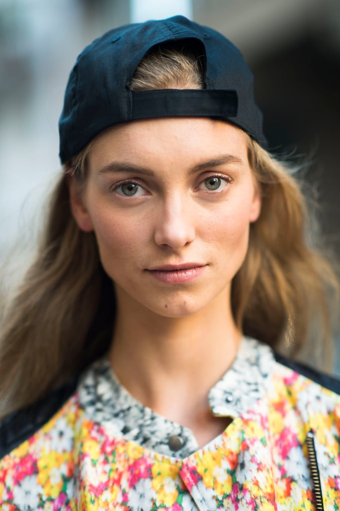 Sometimes, a baseball cap is all you need for an instant cool-girl vibe. Source: Le 21ème | Adam Katz Sinding