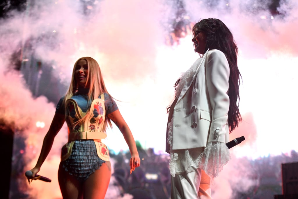 "Coachella officially kicked off in Indio, CA, on Friday, and day one wouldn't have been complete without a few surprises. One of the biggest shockers of the night was an onstage appearance from Cardi B and Selena Gomez. The 26-year-old music stars joined DJ Snake during his set to perform their 2018 bop ""Taki Taki."" While Cardi stunted in a floral bodice and blue bodysuit, Gomez rocked an all-white suit with lace details. Although Cardi performed last year during her own Coachella set, this year marks the first time Gomez has ever hit the stage at the popular festival. The last time she was at the event, she went as a guest in 2017 with her then-boyfriend The Weeknd. During the show, Cardi and Gomez pumped the crowd up with their sexy moves and and vocals. After the set, they even shared a sweet hug on stage. View more clips and photos of their performance ahead!      Related:                                                                                                           Make Sure Your Air Conditioner Is on Before Viewing These Hot Snaps of Stars at Coachella"