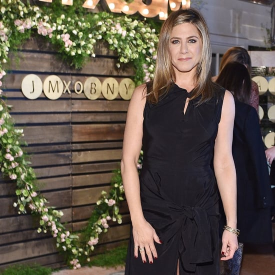 Jennifer Aniston Black Dress at Barneys Dinner