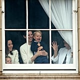 When George Got Goofy in the Window at Buckingham Palace