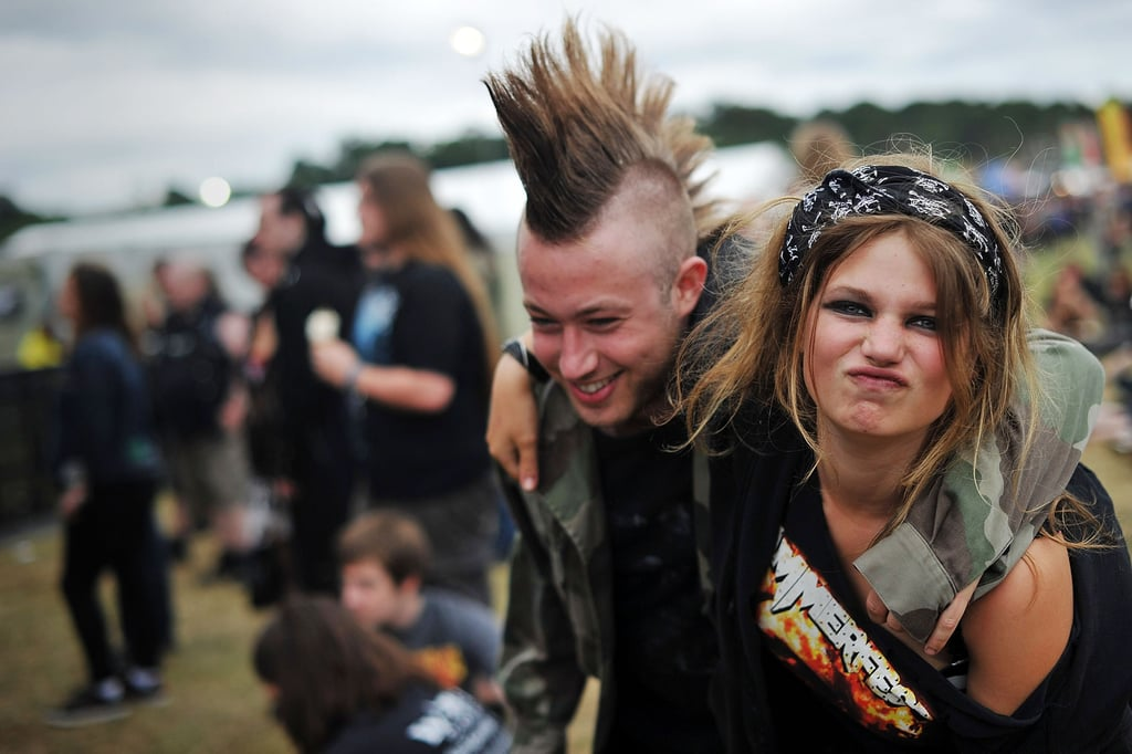 A heavy-metal-loving couple enjoyed the music at the four-day Bloodstock festival in Walton-on-Trent, UK.