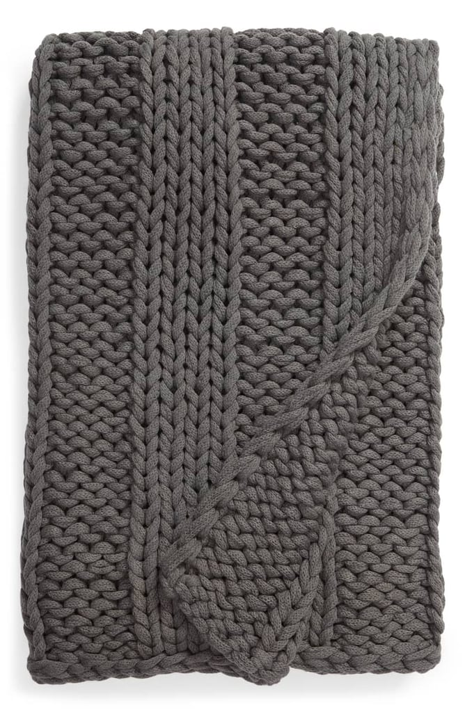 Treasure & Bond Jersey Rope Ribbed Throw Blanket