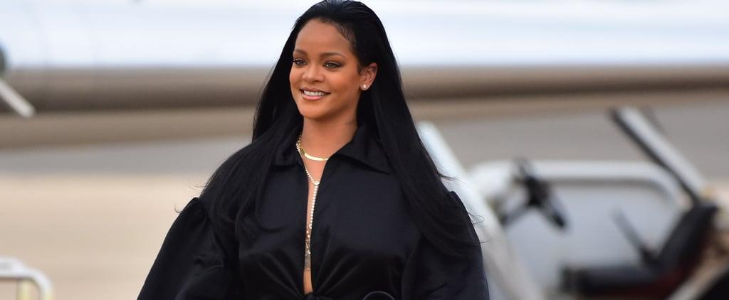 Rihanna's Black Crop Top Set 2019