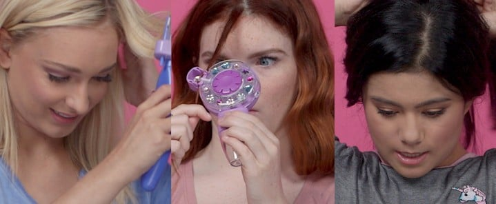 Teenagers Try '90s Hair Tools