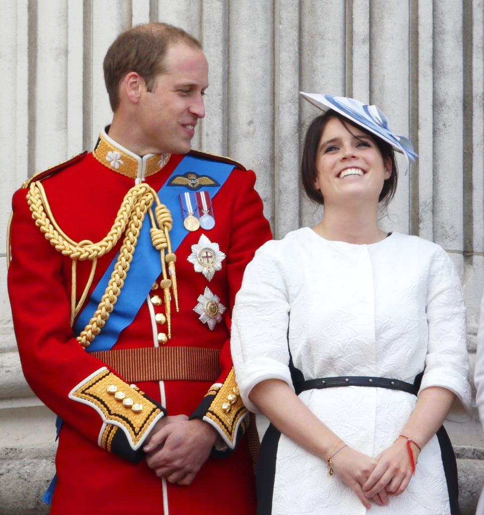 In June 2013, Princess Eugenie cracked up alongside Prince William at the Trooping the Colour ceremony.