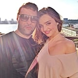Miranda Kerr wrapped up a sunny outdoor photo shoot. Source: Instagram user mirandakerr