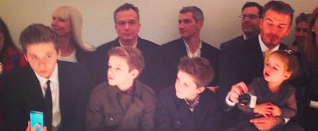 Beckham Family at Victoria Beckham Collection Show Fall 2014