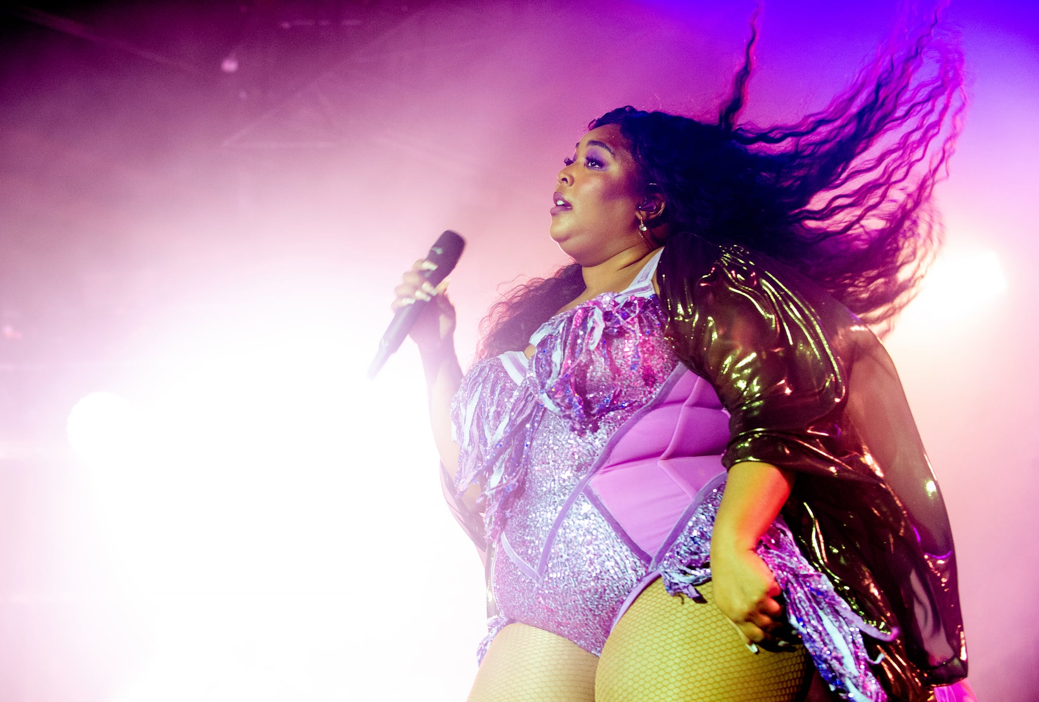 MANCHESTER, ENGLAND - NOVEMBER 11: Lizzo performs at Victoria Warehouse on November 11, 2019 in Manchester, England. (Photo by Shirlaine Forrest/WireImage)