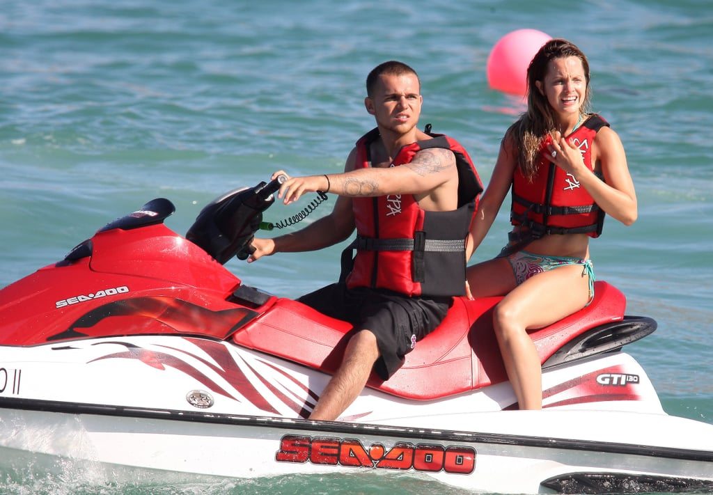 Photos of Mena Suvari Jet skiing in a Bikini