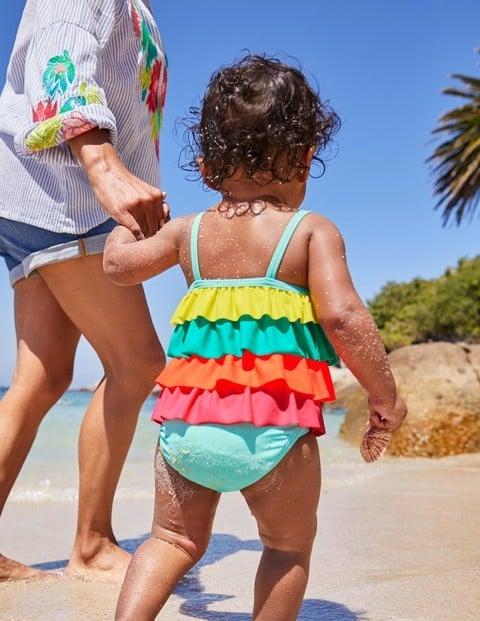 Wippette Baby Girls One-Piece Rash Guard Swimsuit Newborn//Infant