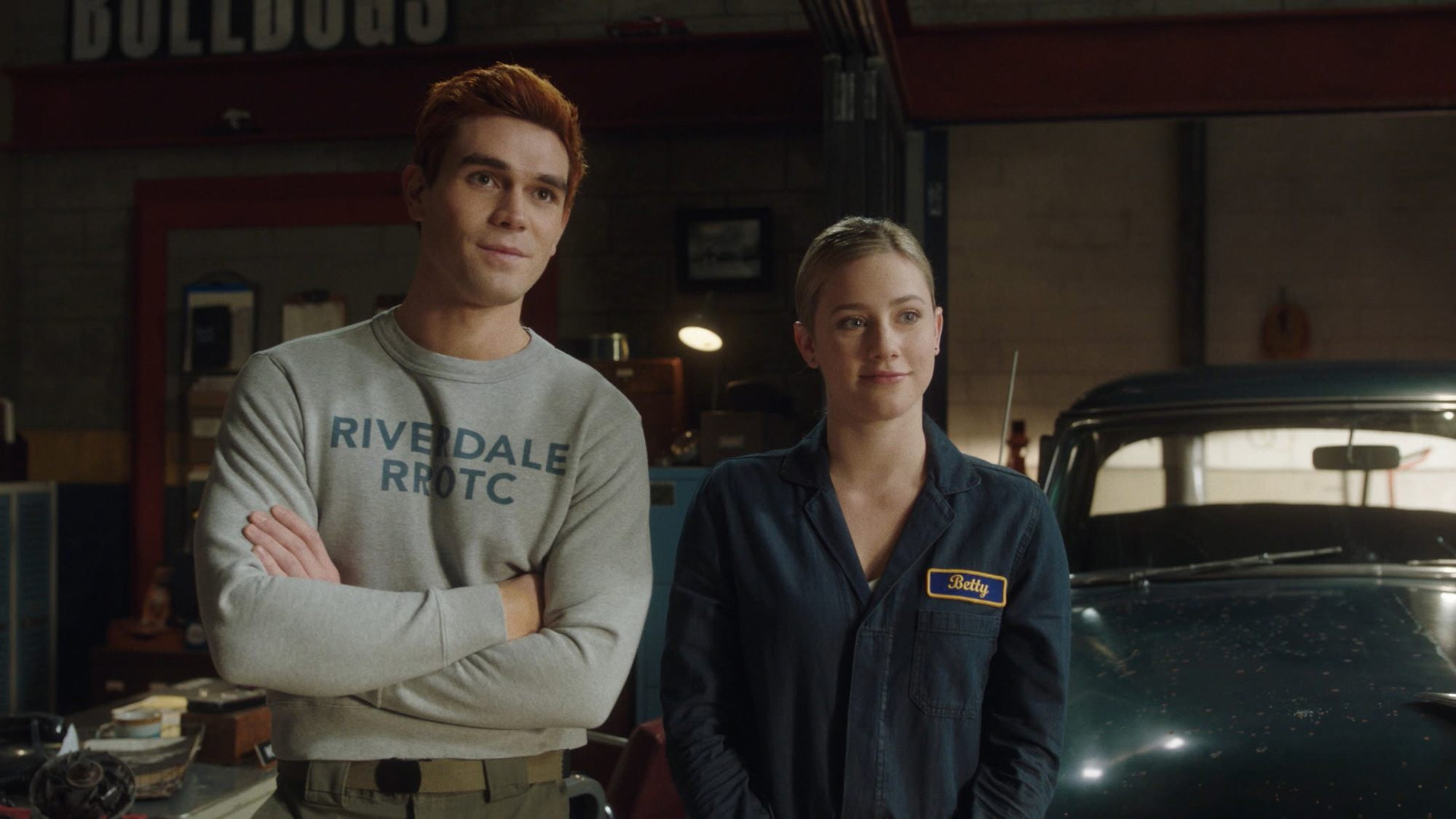 RIVERDALE, from left: KJ Apa, Lili Reinhart, Chapter Eighty-Two: Back To School', (Season 5, Episode 506, aired Feb. 24, 2021). photo: The CW Network / Courtesy Everett Collection