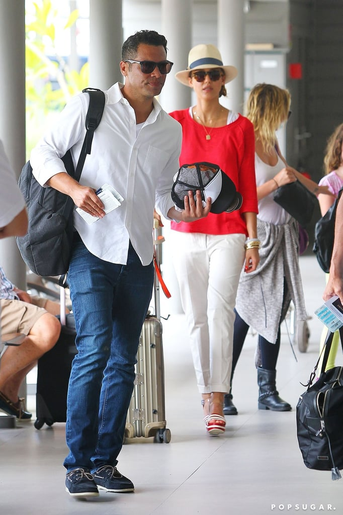 Jessica Alba and Cash Warren left St. Barts.