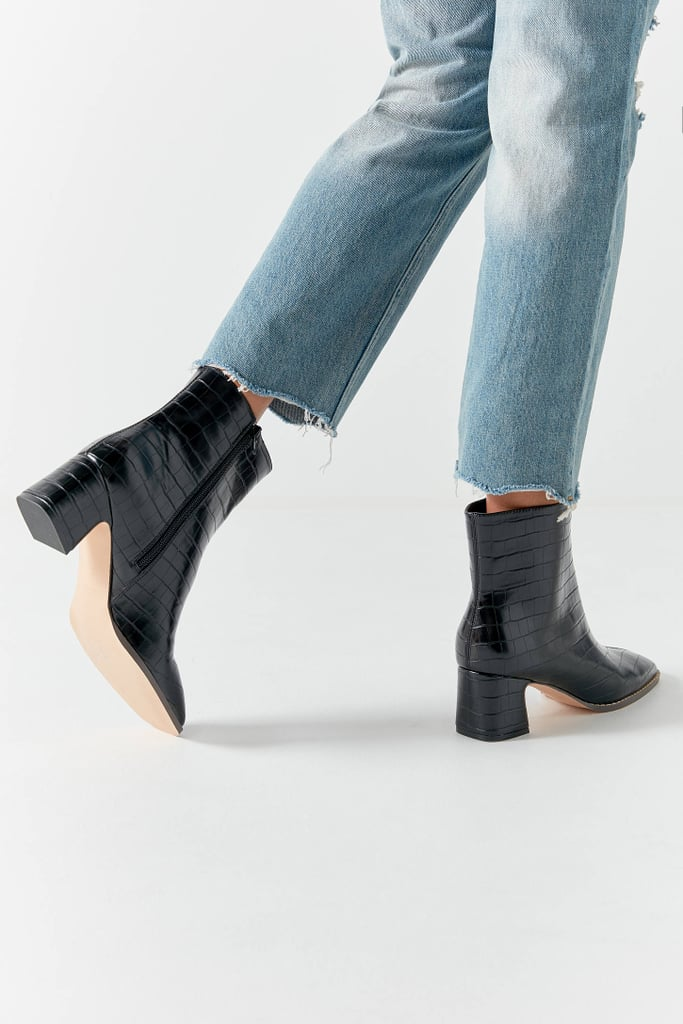 cfa7f77b630 UO Kate Croc Ankle Boots   Best Black Boots For Women   POPSUGAR ...