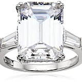 "Platinum-Plated Sterling Silver Celebrity ""Elizabeth"" Ring"