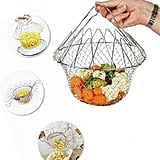 Multi-Function Folding Rinse Stainless Steel Frying Basket
