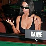 Kim Kardashian Blue PVC Heels From Yeezy