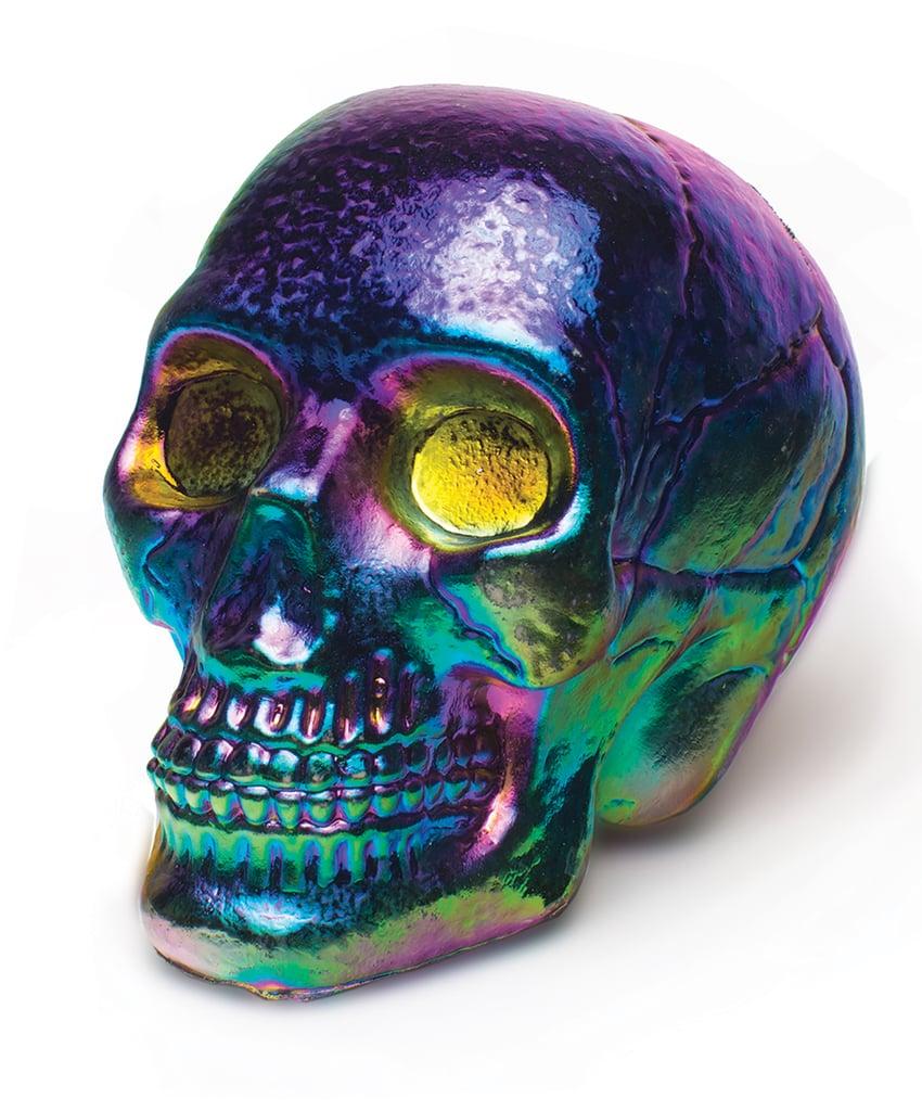 Iridescent Oil Slick Skull
