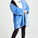 MSGM Faux Fur Long Coat