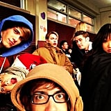 Ryan Murphy gathered his Glee cast together for a moment in the choir room. Source: Twitter user MrRPMurphy