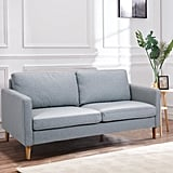 Costway Modern Fabric Couch Sofa Love Seat
