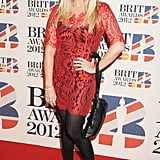 Emma Bunton went with red lace.