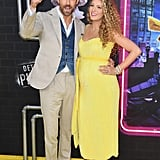 Blake Lively Pregnant in Yellow Dress on the Red Carpet