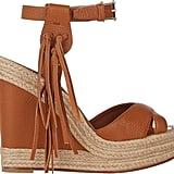 Valentino Fringe-Trim Platform Wedge Sandals ($845)