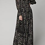 Ganni Floral-Print Georgette Maxi Dress
