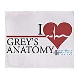 I Heart Grey's Anatomy Stadium Blanket