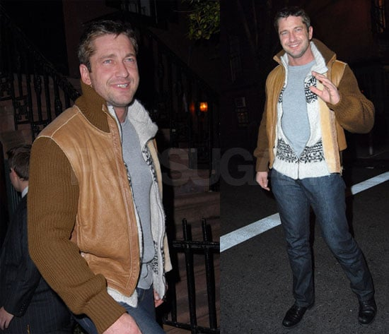 Gerard Butler at the Waverly Inn