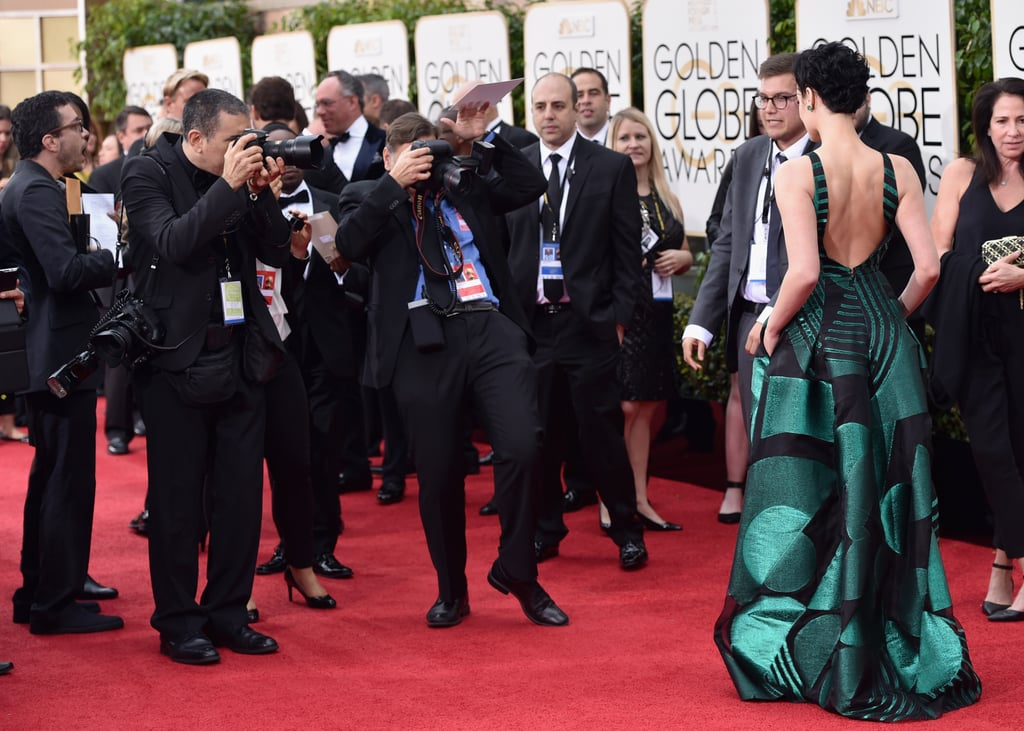 2016 Golden Globe Awards Gowns From Behind