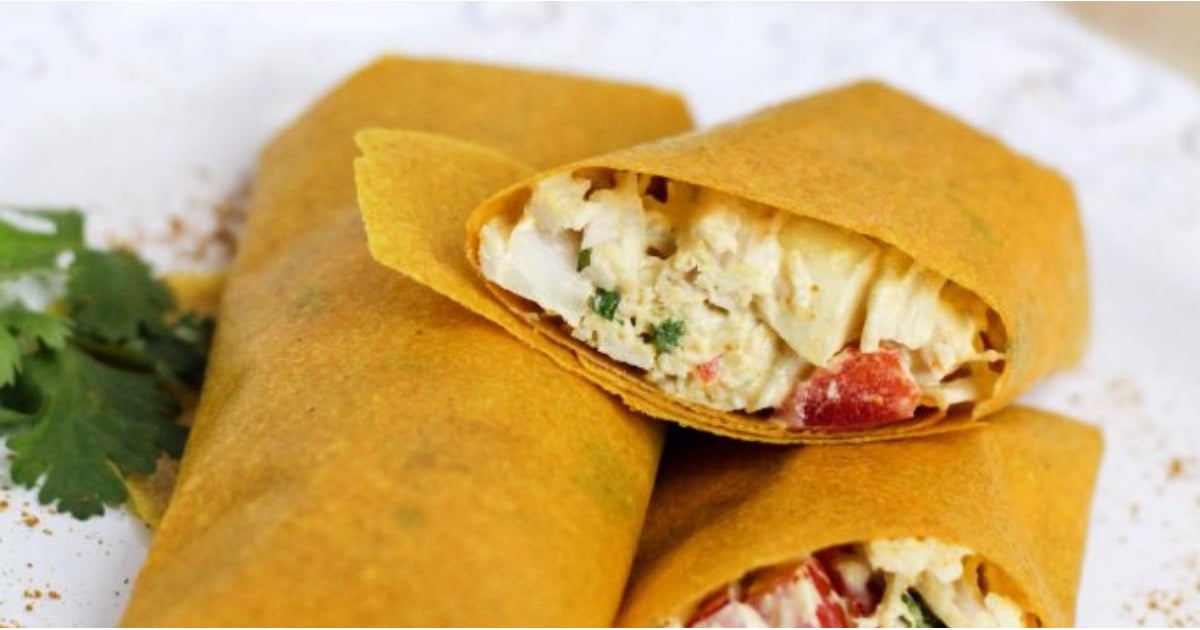Take Your Chicken Salad on the Go With Delicious Turmeric Wraps