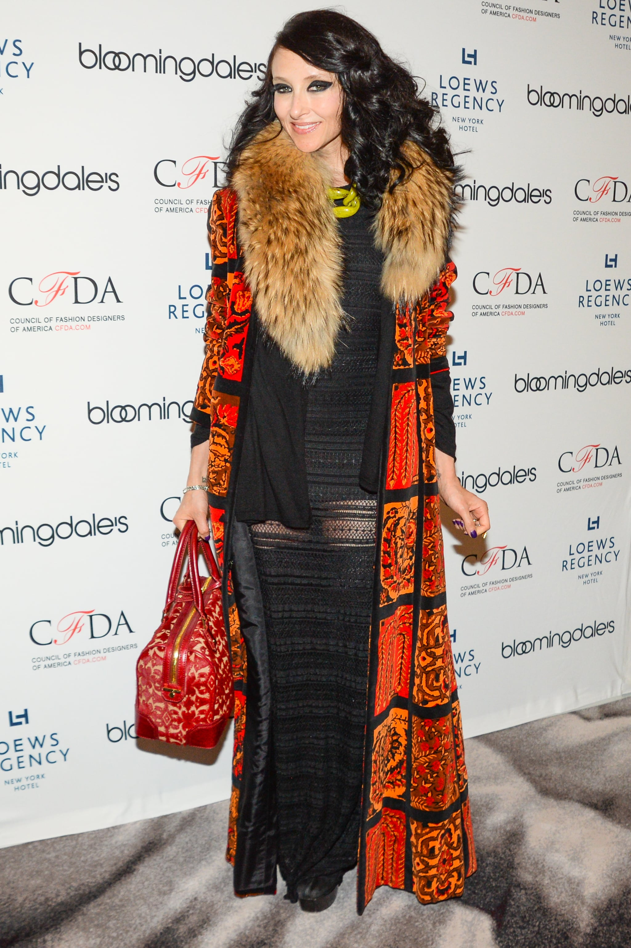 Stacey Bendet at the Bloomingdale's Super Bowl kickoff with the CFDA.