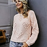 Simplee Knitted Casual Pullover Sweater