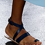 An ankle-wrap sandal that keeps you grounded.