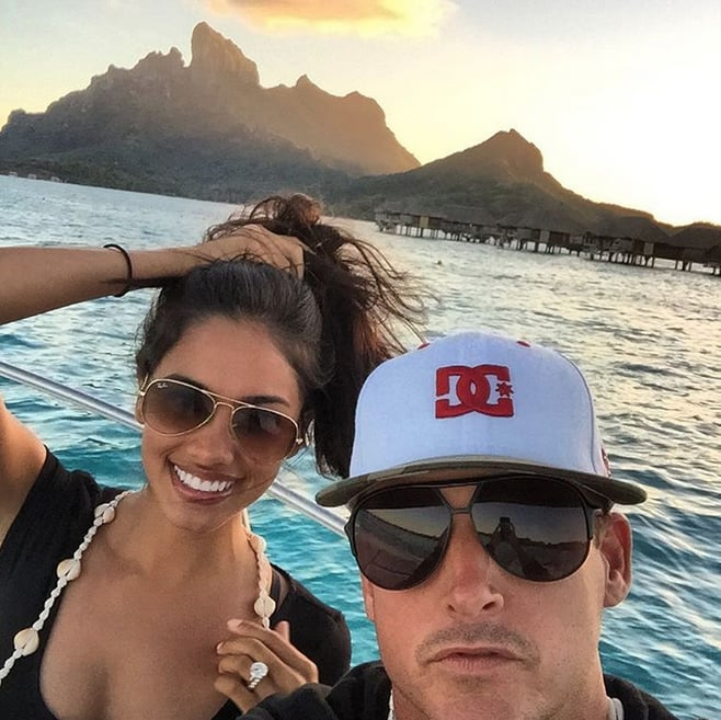 """Rob Dyrdek and Bryiana Noelle got married on Sept. 19, and much like their over-the-top romance, their wedding looked lavish — and gorgeous! After celebrating with family and friends, the couple headed off to Bora Bora for their honeymoon. Bryiana, who has since changed her name on Twitter and Instagram to Bryiana Dyrdek, tweeted, """"I've never been on a plane where the captain and flight attendants speak a foreign language!"""" It wasn't until the next day that Rob shared the first glimpse at their getaway on Instagram, writing, """"It's a celebration of forever love in paradise."""" The couple spent a week enjoying the gorgeous Tahitian island and have since wrapped up their getaway. Scroll through to see all their social snaps from the trip!"""