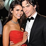 Nina Dobrev cuddled up to boyfriend and The Vampire Diaries costar Ian Somerhalder at the Governors Ball.