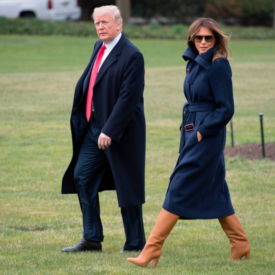 Melania Trump Wearing Tan Boots