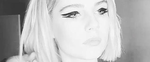 Lucy Boynton Double Eyeliner
