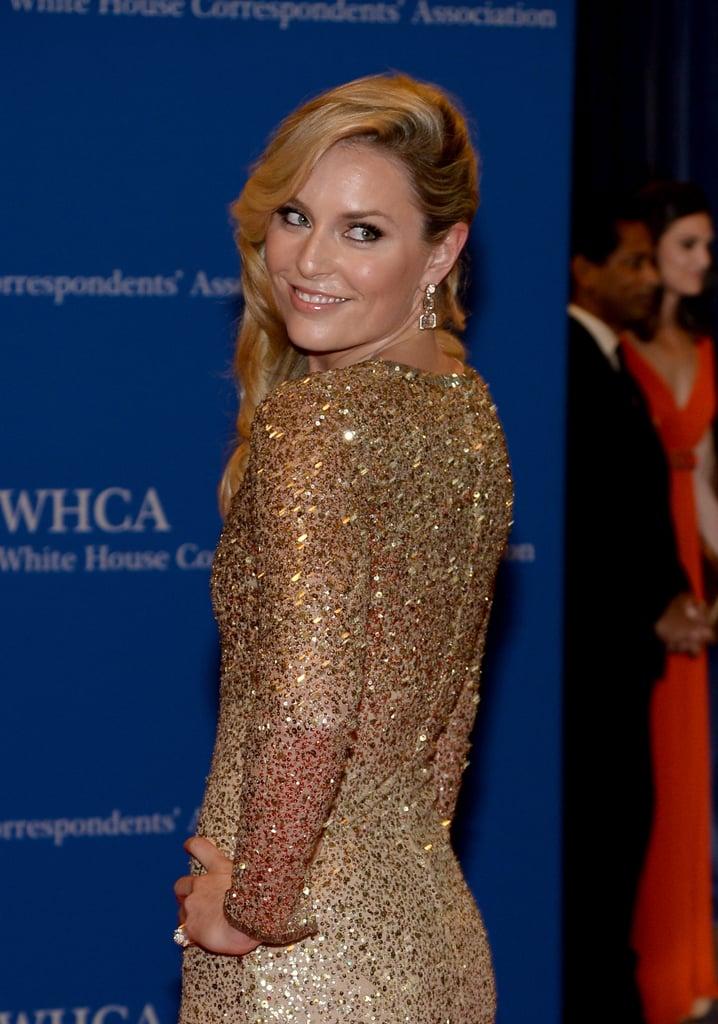 Lindsey Vonn sparkled in gold.