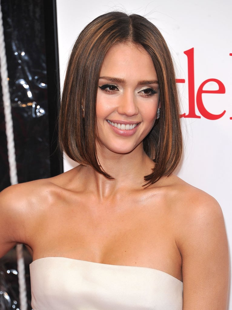 Jessica Alba With Bob Haircut 2010