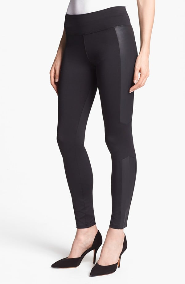 If the full-on leather look is too much for you, consider leggings with side panels like this Kensie pair ($49).