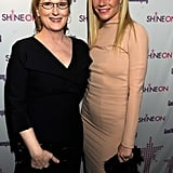 She met up with Meryl Streep at an awards ceremony in NYC in April 2011.